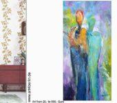 Große, abstrakte Leinwandbilder zum Sonderpreis
