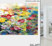 Junge XXL Kunst und abstrakte Malerei zum schöner wohnen und leben.