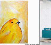 Handgemalte XXL Malerei berührt das Unbewusste des Kunstkäufers.