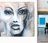 """Junge Berlin Kunst, moderne Acrylmalerei und """"Modern Art""""."""