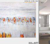 Schöner Wohnen mit abstrakten Gemälden.